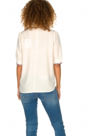 Essentiel Antwerp    Blouse with leopard print collar Sherly   natural    Picture 5