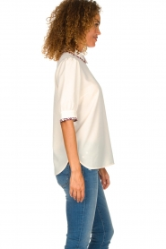 Essentiel Antwerp    Blouse with leopard print collar Sherly   natural    Picture 4