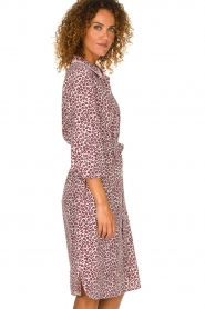 Essentiel Antwerp |  Dress with leopard print Sama | animal  | Picture 4