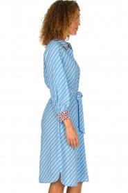 Essentiel Antwerp    Striped dress Sama   blue    Picture 4