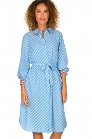Essentiel Antwerp    Striped dress Sama   blue    Picture 2