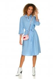 Essentiel Antwerp    Striped dress Sama   blue    Picture 3