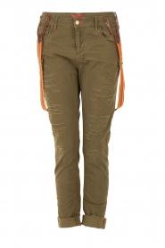Manila Grace | Boyfriend jeans Kate cropped | groen  | Afbeelding 1