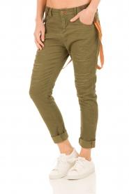 Manila Grace | Boyfriend jeans Kate cropped | groen  | Afbeelding 2
