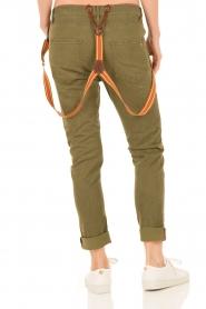 Manila Grace | Boyfriend jeans Kate cropped | groen  | Afbeelding 5