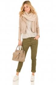 Manila Grace | Boyfriend jeans Kate cropped | groen  | Afbeelding 3