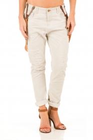 Manila Grace | Boyfriend jeans Kate cropped | grijs  | Afbeelding 2