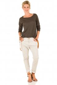 Manila Grace | Boyfriend jeans Kate cropped | grijs  | Afbeelding 3