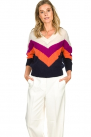 Essentiel Antwerp | Woolen sweater Annelies  | multi  | Picture 2