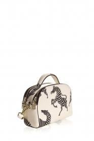 Essentiel Antwerp | Shoulder bag with print Iris | white  | Picture 3