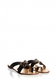Essentiel Antwerp | Leather sandals Kirsty | black  | Picture 4