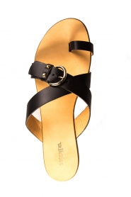 Essentiel Antwerp | Leather sandals Kirsty | black  | Picture 6