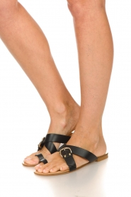 Essentiel Antwerp | Leather sandals Kirsty | black  | Picture 3