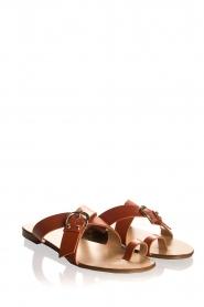 Essentiel Antwerp | Leather sandals Kirsty | brown  | Picture 3