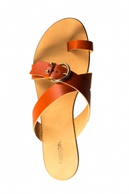 Essentiel Antwerp | Leather sandals Kirsty | brown  | Picture 5