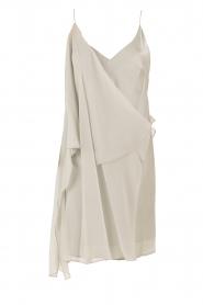 Hoss Intropia | Zijden jurk Romee | lichtgrijs  | Afbeelding 1
