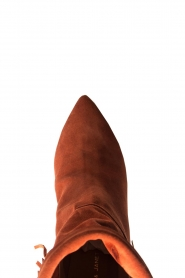 Janet & Janet |  Suede fringe boots Lizzy | red  | Picture 5