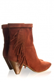 Janet & Janet |  Suede fringe boots Lizzy | red  | Picture 4
