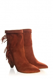 Janet & Janet |  Suede fringe boots Lizzy | red  | Picture 3