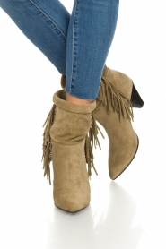 Janet & Janet |  Suede fringe boots Lizzy |  Taupe  | Picture 3