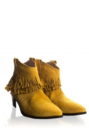 Janet & Janet |  Suede fringe ankle boots Bella | yellow  | Picture 4