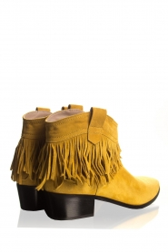 Janet & Janet |  Suede fringe ankle boots Bella | yellow  | Picture 5