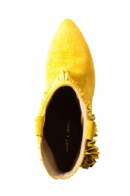 Janet & Janet |  Suede fringe ankle boots Bella | yellow  | Picture 6