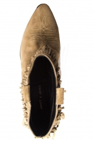 Janet & Janet | Suede fringe ankle boots Bella | taupe  | Picture 6