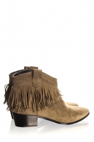 Janet & Janet | Suede fringe ankle boots Bella | taupe  | Picture 5