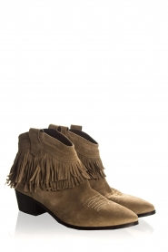 Janet & Janet | Suede fringe ankle boots Bella | taupe  | Picture 4