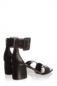 Janet & Janet : Leather sandals Dafne | black - img5