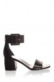 Janet & Janet | Leren sandalen Dafne | zwart  | Afbeelding 2