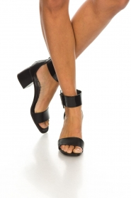 Janet & Janet : Leather sandals Dafne | black - img3