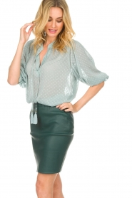 Dante 6 |  100% lamb leather skirt Love | green  | Picture 3