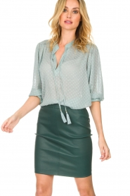Dante 6 |  100% lamb leather skirt Love | green  | Picture 5
