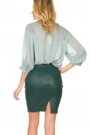 Dante 6 |  100% lamb leather skirt Love | green  | Picture 6