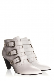 Janet & Janet | Leather ankle boots Cleo | white  | Picture 4