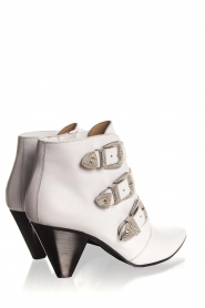 Janet & Janet | Leather ankle boots Cleo | white  | Picture 5