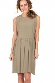 Dress Pamela | Khaki green