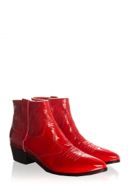 Janet & Janet | Leather ankle boots Sofia | red  | Picture 3