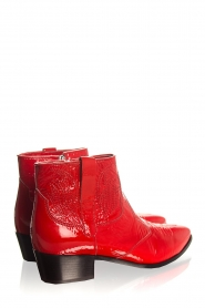 Janet & Janet | Leather ankle boots Sofia | red  | Picture 4