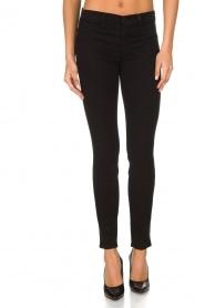 J brand | Super skinny broek Sateen | Zwart  | Afbeelding 2