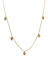 Mimi et Toi |  Necklace with diamond shapes Josephine | gold  | Picture 1