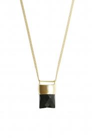 Mimi et Toi | 18k goud vergulde ketting met hanger Mylene | goud  | Afbeelding 1