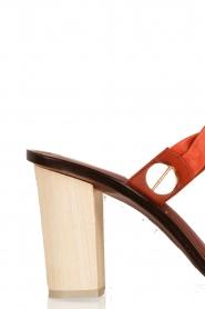 Hoss Intropia | Leren open pump Selyn | oranje  | Afbeelding 5