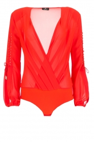 ELISABETTA FRANCHI |  Body blouse Sierra | red  | Picture 1