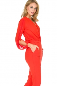ELISABETTA FRANCHI |  Body blouse Sierra | red  | Picture 6
