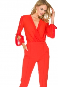ELISABETTA FRANCHI |  Body blouse Sierra | red  | Picture 5