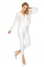 ELISABETTA FRANCHI | Pantalon Aimee | wit  | Afbeelding 3