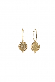 18k gold plated earrings Lourdes | gold